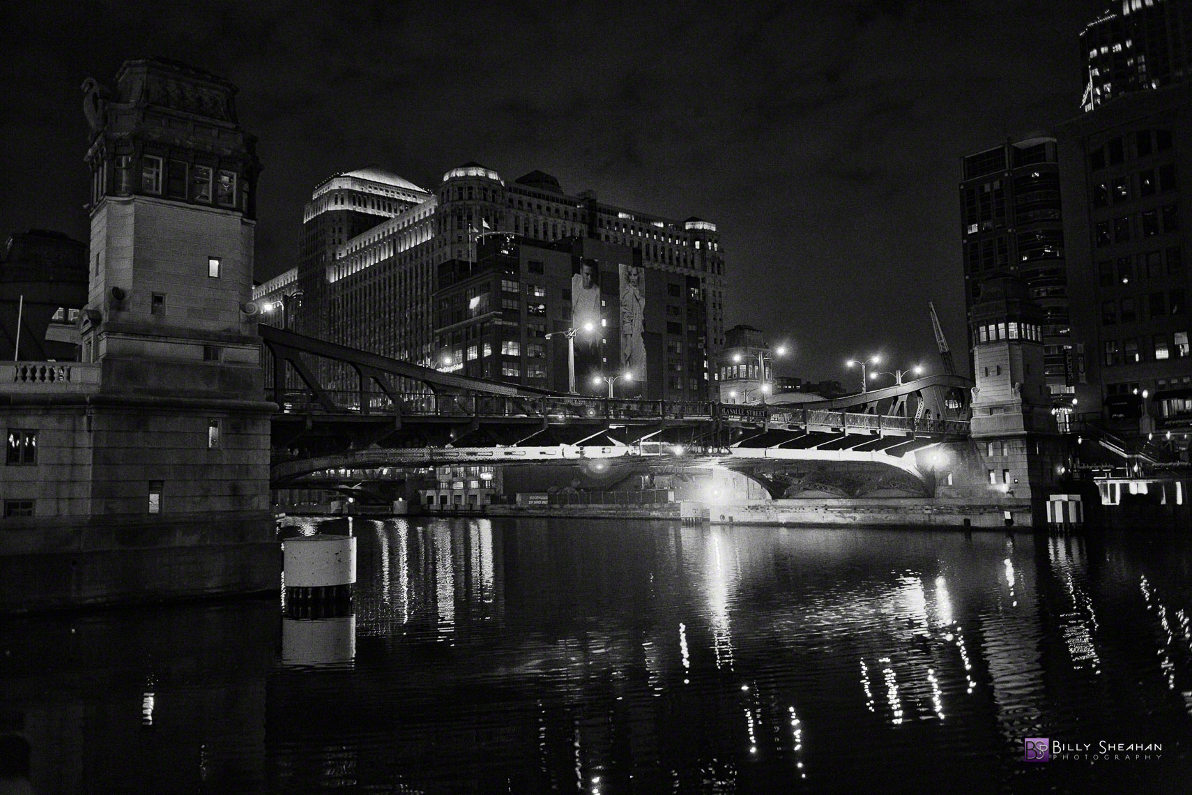 N LaSalle St Bridge at Chicago  River